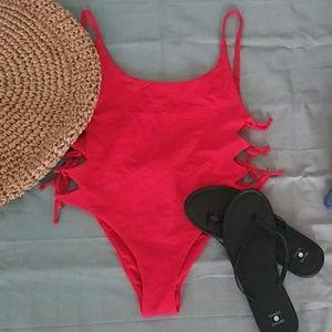 NWT Red Zara One Piece Swimsuit